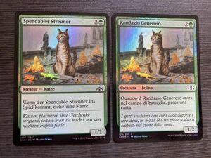 2ヶ国語 気前のいい野良猫 Foil ドイツ語 イタリア語 他言語 取り寄せ MTG 英語版 海外版