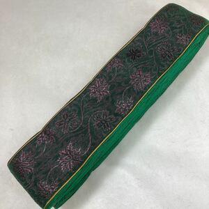 セール品 緑紫高貴華色 畳ヘリ 5m 材料 ハンドメイド 和風素材 お土産