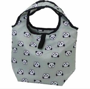 【エコバッグ】パンダ くるくる保冷ショッピングバッグ プチ グレー