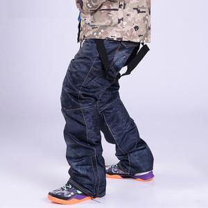 スノーボードウェア スノーパンツ メンズ パンツ オーバーオール スリムフィット スノボウエア 大きいサイズ ブラック L