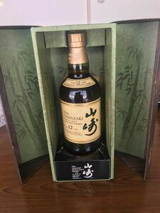 サントリー 山崎12年 希少 竹林模様ボトルケース入り 700ml シングルモルト ウイスキー 新品 未開封