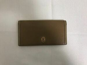 本物ブルガリBVLGARI本革レザー二つ折り長財布サイフ札入れ茶ブラウンコインケースビジネスメンズレディース旅行キーリング