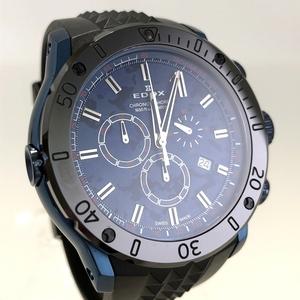 特別セール!定価17.8万円 新品同様 限定品 エドックス クロノオフショア1 クロノグラフ スペシャルエディション 腕時計 10221-37BU5-BUM5