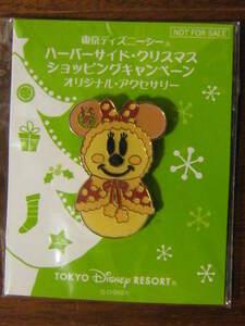 ★新品 TDS東京ディズニーシーハーバーサイドクリスマスショッピングキャンペーン オリジナルアクセサリー 非売品 ミニーマウス スノーマン