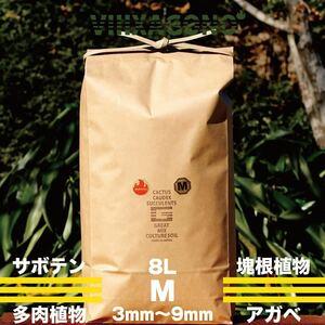 GREAT MIX CULTURE SOIL 【MEDIUM】8L 3mm-9mm サボテン、多肉植物、コーデックス、アガベを対象とした国産プレミアム培養土