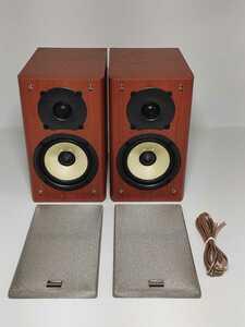 【超美品】ONKYO D-S7GX オンキョー 音響 70W 高音質 2WAY バスレフ スピーカーシステム オーディオ機器 新品ケーブル ツィーター ウーファ