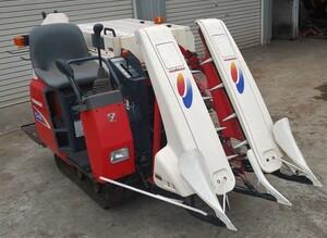 鹿児島発 ヤンマー 二条刈り ガソリンエンジン小型コンバインCe-8