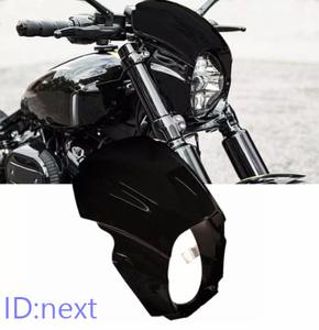 オートバイ カウル フェアリング おすすめ ヘッドライトカバー ハーレー ブレイクアウト 2018-2020 交換 カスタム グロスブラック