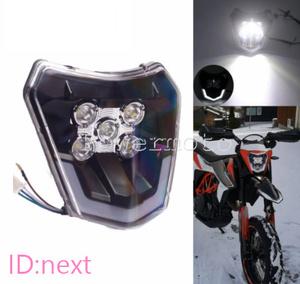 オートバイ ヘッドライト LED ライト モトクロス 汎用 EXC XCF XCW エンデューロ など おすすめ カスタム 交換 1個 人気