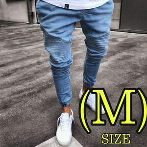 メンズ ジョガーパンツ スキニー デニム インディゴ 韓国 オルチャン Mサイズ
