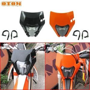 Otom LED オートバイ ヘッドライト ヘッドランプ 6000 18k 超高輝度スクータースポットライト防振ゴムストリップ ハスクバーナ