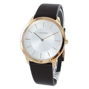 カジュアル 仕事 プレゼント ユニセックス 腕時計 メンズ レディース カルバンクライン CK ブラウン レザー 革 ベルト