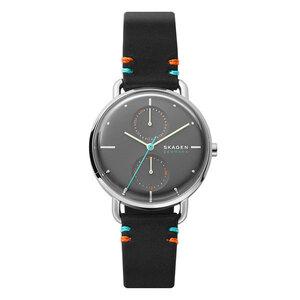 カジュアル 北欧 シンプル ギフト プレゼント 革ベルト 腕時計 メンズ レディース ボーイズサイズ スカーゲン グレー ブラック レザー