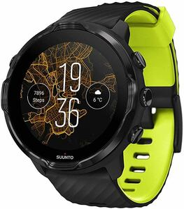 new goods * free shipping *SUUNTO( Suunto ) SUUNTO7 ( Suunto 7) smart watch GPS SS050379000 black lime wearable heart rate meter
