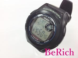 カシオ CASIO デジタル メンズ 腕時計 F-200 黒 ブラック 文字盤 SS 樹脂 クォーツ ウォッチ 【中古】ht2834