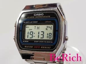 カシオ CASIO デジタル メンズ 腕時計 A164WA グレー 文字盤 シルバー SS クォーツ ウォッチ 【中古】ht2827