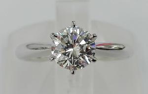 【鑑定書付き】美品 リング Pt900 プラチナ 6号 3.3g 一粒 ダイヤモンド 0.683ct D VVS-2 VERYGOOD 店舗受取可
