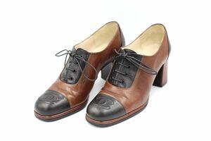 【自社リペア済み】chanel シャネル レースアップブーツ 【現行定価16万円】ココマーク 36 23cm イタリア製 婦人靴 レディースシューズ