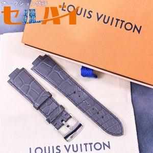 本物 新品 ルイヴィトン 現行ワンタッチ型 メンズ タンブール マットクロコダイルレザーベルト 尾錠 セット 腕時計 ウォッチバンド