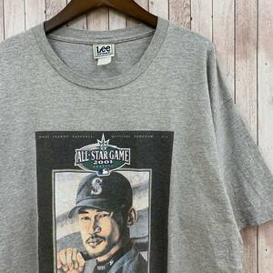 Lee リー ALL STAR GAME 2001 イチロー Tシャツ XL相当 グレー MLB オールスター 00's ヴィンテージ A69