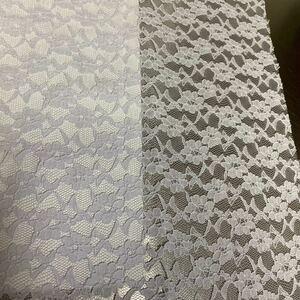チュールレース生地 はぎれ 35cm×30cm 薄紫色 パステル ラッセルレース