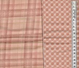 カットクロス チェック フラワー くすみピンク 2枚セット サイズ約50cm×55cm 2-4