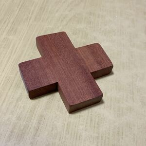 ウォールナット ハンドメイド クロス コースター 木製