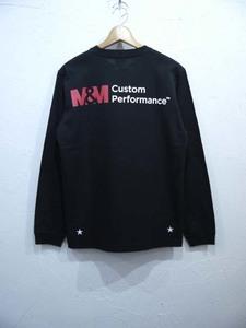 M&M PRINT L/S T-SHIRT(21-MT-005)/BLACK(M)/新品・未使用品