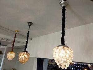 1300-B 新品 アンティーク デザイン シャンデリアでお洒落な吊り下げ 2灯/ゴージャスなガンメタフレーム/ブロンズメッキクリスタル