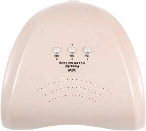 ★1円★訳あり 36W LED&UVネイルライト CCFL不使用 自動センサー ジェルネイル レジン パールピンク
