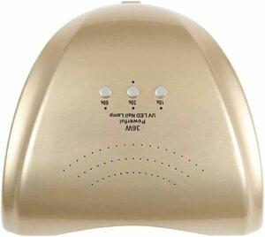 ★1円★訳あり 36W LED&UVネイルライト CCFL不使用 自動センサー ジェルネイル レジン ゴールド
