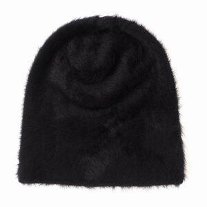 未使用品 レナードプランク REINHARD PLANK 19AW CUFFIA LONG/ANGORA アンゴラ ファー ニット帽 帽子SIZE 00 ブラック 黒 col.13 国内正規