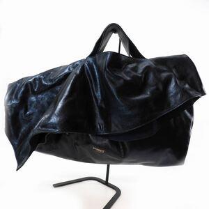 未使用品 ポール ポワレ PAUL POIRET a Paris LARGE SCULPTURAL BAG レザー ハンドバッグ セカンドバッグ ONE メタリックブルー