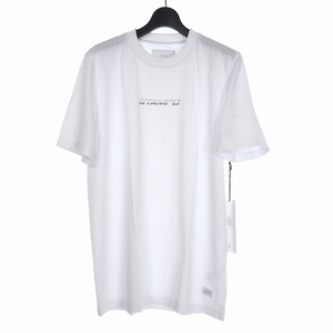 未使用品 スタンプド STAMPD 19SS Ascend Mesh Tee クルーネック プリント メッシュ Tシャツ 半袖 XL ホワイト 白 SLA-M1881TE