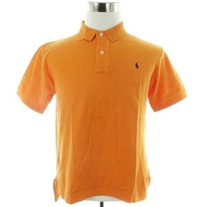 ポロ バイ ラルフローレン Polo by Ralph Lauren ポロシャツ 半袖 鹿の子 ロゴ 刺繍 コットン ワンポイント LL オレンジ トップス メンズ