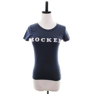 マウジー moussy Tシャツ カットソー 半袖 クルーネック コットン プリント 1 グレー 白 ホワイト トップス /CK レディース