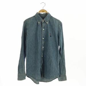 ボヘミアンズ BOHEMIANS ボタンダウンシャツ 長袖 デニム 1 青 ブルー /HK ■OS メンズ