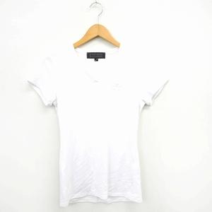 Cook jeans Tシャツ カットソー 刺繍 シンプル Vネック 半袖 2 ホワイト 白 /MT36 レディース