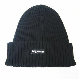 未使用品 シュプリーム SUPREME ★AA☆21SS Overdyed Beanie Black スモール ロゴ ビーニー ニットキャップ 帽子 黒 ブラック 4