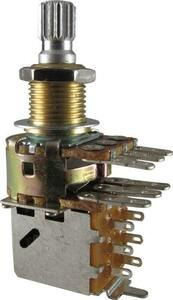 ポット Potentiometer - Bourns, 500kΩ Audio, Knurled, Dual Mini [送料170円から 同梱可]