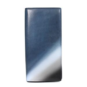 ベルルッティ 二つ折り財布 ブルー レザー