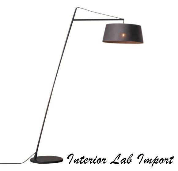ファブリックランプ デザインインテリア フロアライト シェードランプ デザインランプ 間接照明 ブラック スタンドライト