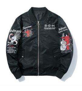 メンズ ジャケット ジャンパー ブルゾン MA-1 フライトジャケット ドクロ