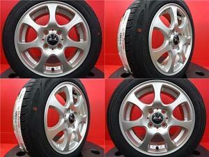 タイヤホイール4本セット♪中古 ZACK 14インチ 5.5J 4H-100 +新品RS SH01【155/65R14】2020年製 タント N-BOX ムーヴ など軽自動車に♪
