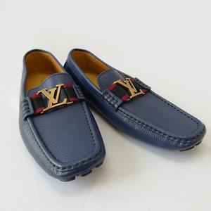LOUIS VUITTON ルイヴィトン ローファー 靴 スリッポン モンテカルロ 6 1/2 ドライビングシューズ レザーシューズ メンズ 靴 r462-22