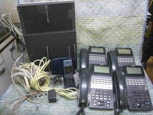 NTT ビジネスフォン ネットコミュニティシステム αNXⅡ typeM 電話機5台 1台コードレス(NX-ACL-PS) 中古品