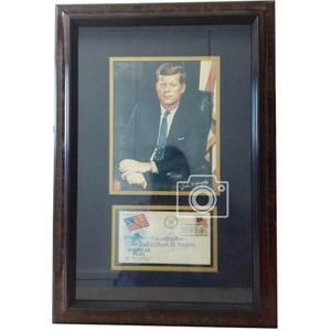 ジョン.F.ケネディ(John.F. Kennedy) 第35代 アメリカ大統領 写真 × 直筆サイン入り書簡(封筒) Auto