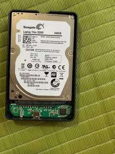 SEAGATE Laptop Thin SSHD portable hard disk 500GB HDD black