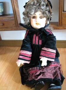 リプロ collectors doll コレクターズドール アンティークドールのレプリカ JUMEAU ジュモー 樹脂製 箱付 58cm