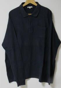 5L メンズ ポロシャツ 色はネイビー 長袖